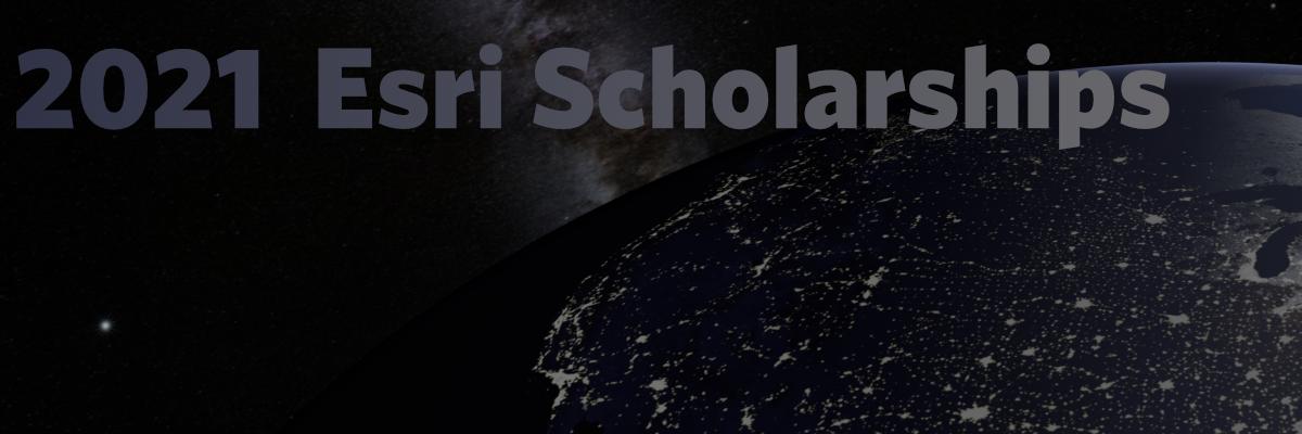 Esri 2020 Scholarships